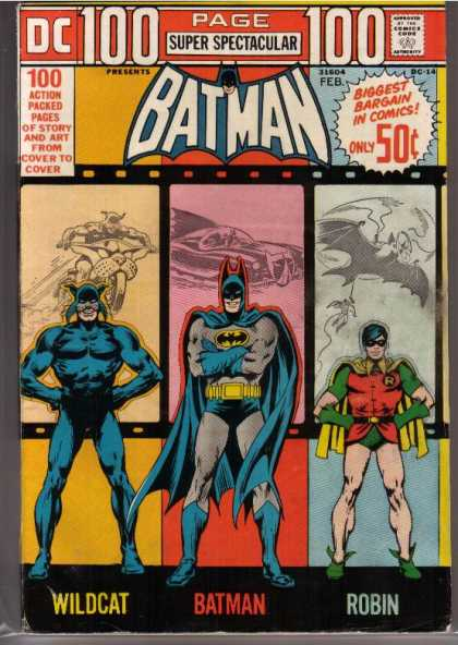 100 Page Super Spectacular 14 - Batman - Robin - Wildcat - Batmobile - Motorcycle