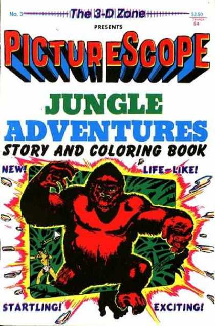 3-D Zone 3 - Coloring Book - Gorilla - Life-like - Startling - Exciting - Basil Wolverton