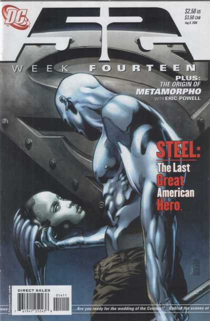 52 13 - The Origin Of Metamorpho - Steel The Last Great American Hero - The Wedding Of The Century - Beheaded Woman - Metallic People - Alex Sinclair, J Jones