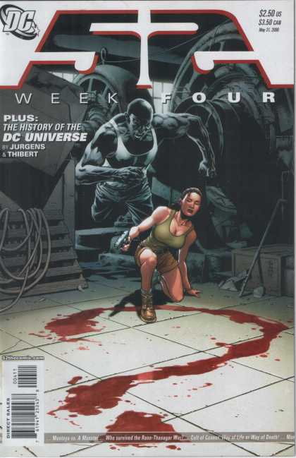 52 3 - Week Four - History Of The Dc Universe - Jurgens U0026 Thibert - Question Mark - Blood - Alex Sinclair, J Jones