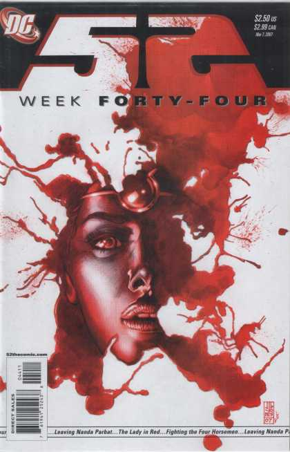 52 44 - Week Forty Four - Womans Face - Blood Splatters - Leaving Nanba Parbat - The Lady In Red - Alex Sinclair, J Jones