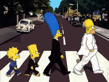 Abbey Road Hommage Covers - Abbey Simpsons Road
