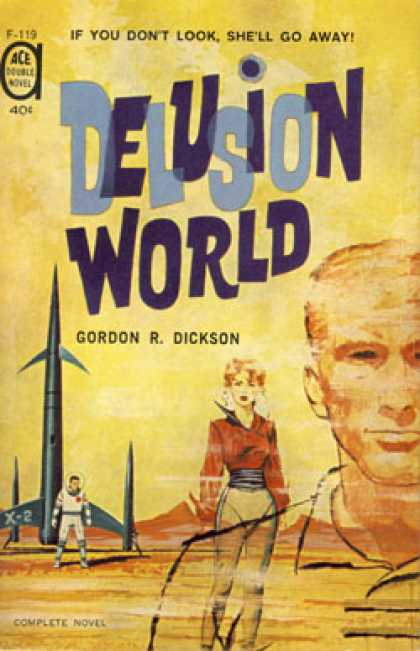Ace Books - Spacial Delivery / Delusion World - Gordon R. Dickson