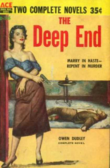 Ace Books - The Quaking Widow / the Deep End - Robert / Dudley, Owen Colby