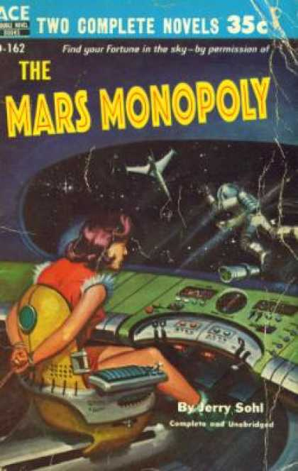 Ace Books - The Mars Monopoly / the Man Who Lived Forever - Jerry Sohl