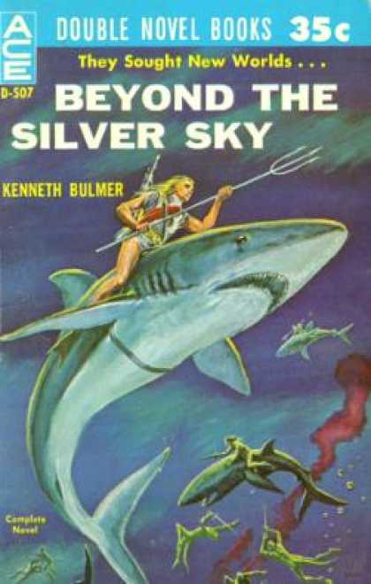Ace Books - Meeting at Infinity / Beyond the Silver Sky - John Brunner