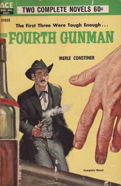 Ace Books - The Fourth Gunman / Slick On the Draw - Merle Constiner