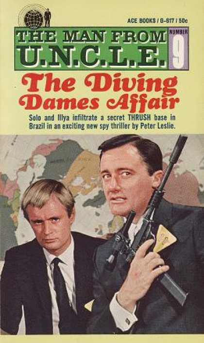Ace Books - The Man From U.n.c.l.e. : The Diving Dames Affair # 9 - Peter Leslie