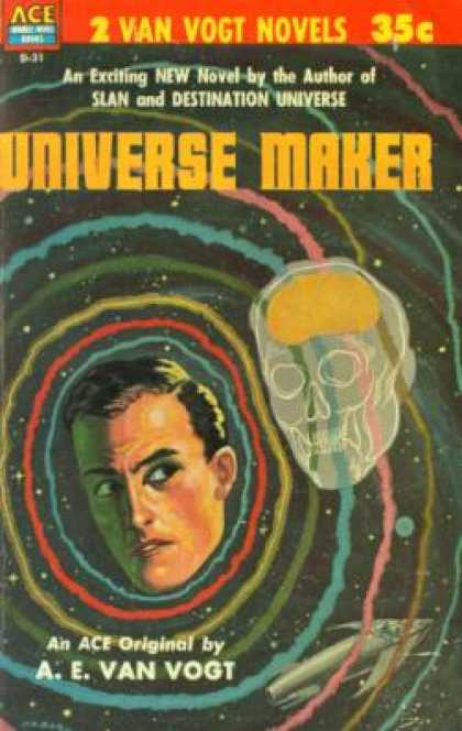 Ace Books - The World of Null-a / the Universe Maker - A. E Van Vogt
