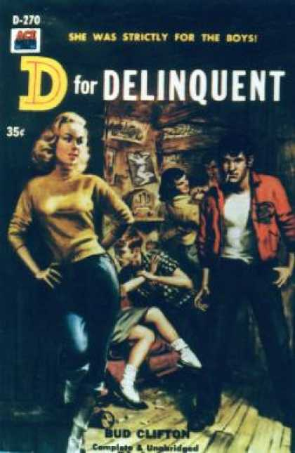 Ace Books - D for Delinquent - Bud Clifton