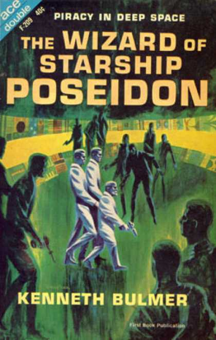 Ace Books - Wizard of Starship Poseidon & Let the Spacemen Beware! - Kenneth Bulmer