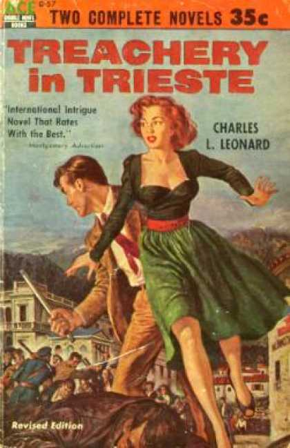 Ace Books - Treachery In Trieste - Charles L. Leonard
