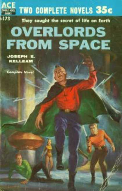 Ace Books - The Man Who Mastered Time and Overlords From Space - Ray and Joseph E. Kelleam C