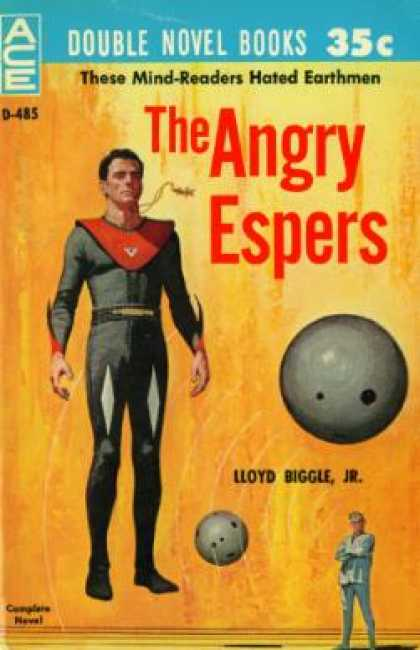 Ace Books - Angry Espers, the Andthe Puzzle Planet - Lloyd and Robert A.w. Lowndes Biggle Jr