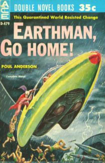 Ace Books - Earthman, Go Home! / To the Tombaugh Station - Poul Anderson