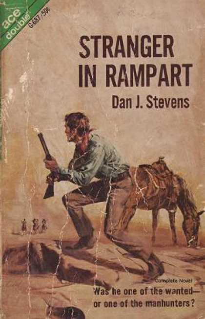 Ace Books - Stranger In Rampart / the Hanging at Whiskey Smith - Dan J. Stevens