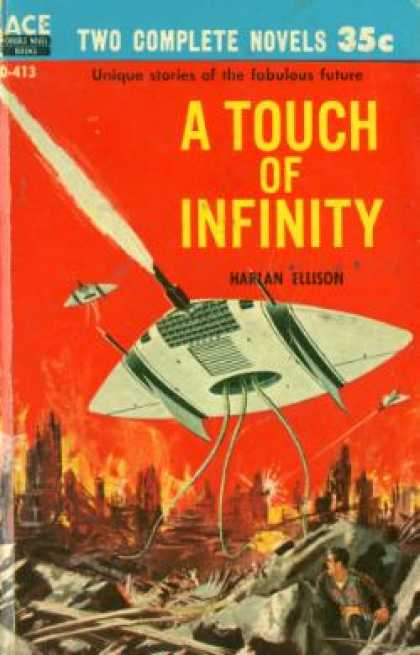 Ace Books - The Man With Nine Lives / a Touch of Infinity - Harlan Ellison