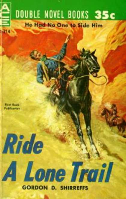 Ace Books - Hangin' Pards/ Ride a Lone Trail - Gordon D. Shirreffs