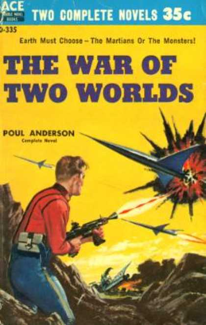 Ace Books - Threshold of Eternity / War of Two Worlds - John Brunner