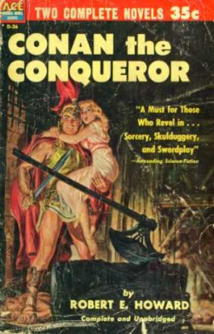 Ace Books - Conan the Conqueror/the Sword of Rhiannon (leigh Brackett] - Robert E. Howard