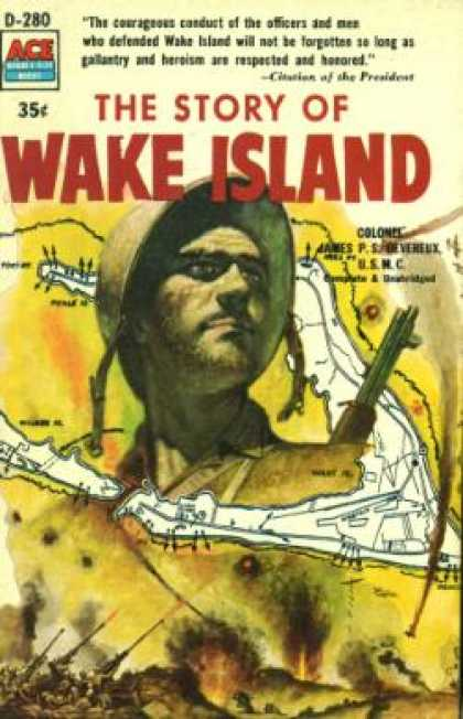 Ace Books - The Story of Wake Island (double Size Books, Ace D-280)