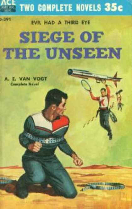 Ace Books - Siege of the Unseen / the World Swappers - A.e. Van Vogt