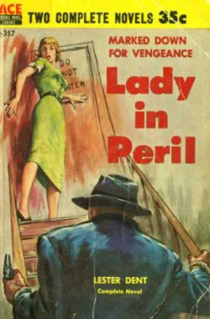 Ace Books - Lady In Peril / Wired for Scandal - Lester / Floyd Wallace Dent
