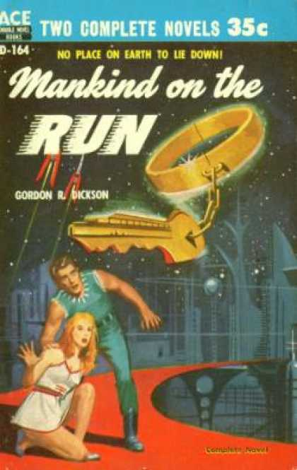 Ace Books - The Crossroads of Time / Mankind On the Run - Andre & Dickson, Gordon Norton