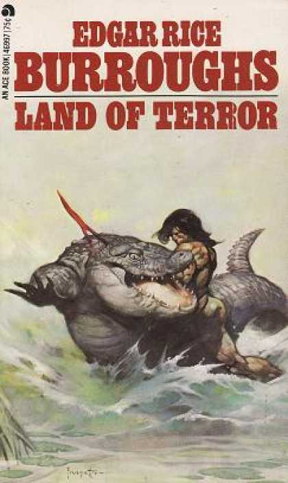Ace Books - Land of Terror - Edgar Rice Burroughs