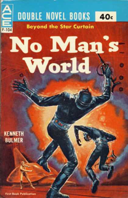 Ace Books - Mayday Orbit / No Mans World - Poul / Bulmer, Kenneth Anderson