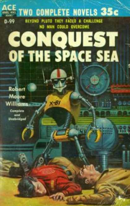 Ace Books - The Galactic Breed / Conquest of the Space Sea - Leigh Brackett