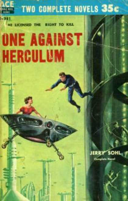 Ace Books - Secret of the Lost Race and One Against Herculum Ace Double D-381 - Andre; Jerry