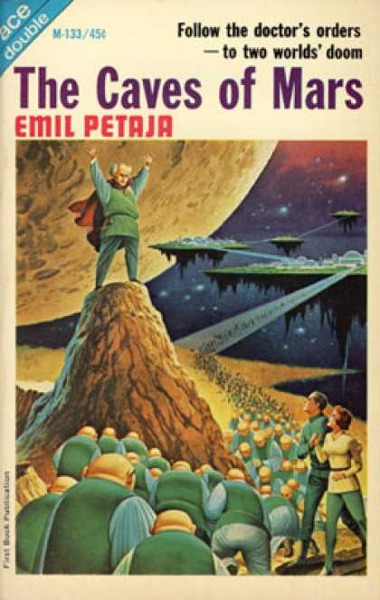 Ace Books - The Caves of Mars / Space Mercenaries - Emil Petaja
