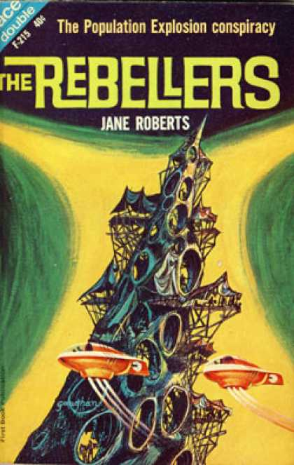 Ace Books - The Rebellers / Listen! the Stars! - Jane Roberts