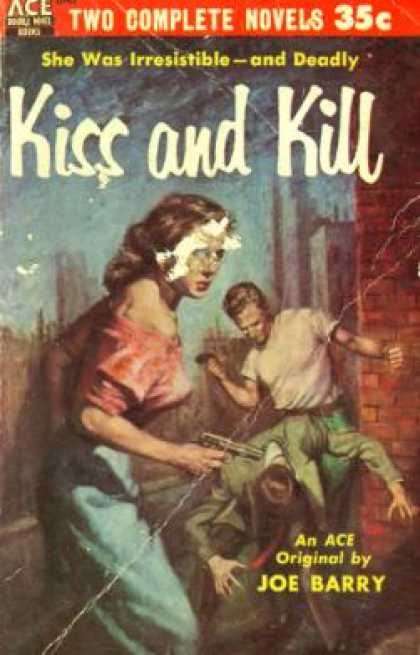 Ace Books - Kiss and Tell : And - On the Hook - Joe Barry