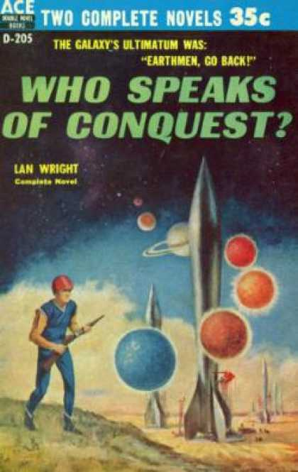 Ace Books - Who Speaks of Conquest/the Earth In Peril - Lan Wright
