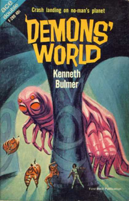 Ace Books - Demons' World and I Want the Stars - Kenneth and Purdom, Tom Bulmer