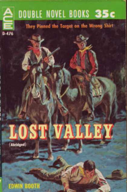 Ace Books - Lost Valley / Double-cross Dinero - Edwin Booth