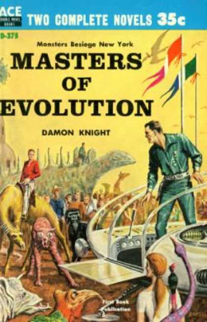 Ace Books - Masters of Evolution / Fire In the Heavens - Damon Knight