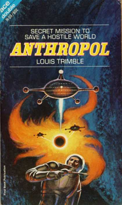 Ace Books - The Time Mercenaries and Anthropol - Philip E. and Trimble, Louis High