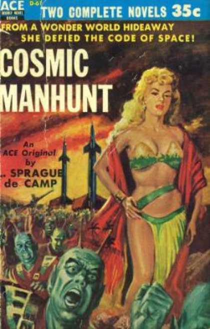 Ace Books - Ring Around the Sun | Cosmic Manhunt - Clifford D. | De Camp, L. Sprague Simak