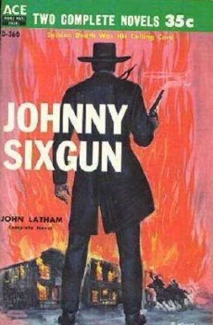 Ace Books - War In Peaceful Valley / Johnny Sixgun