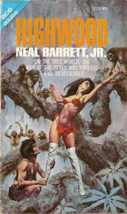 Ace Books - Annihilation Factor; Highwood - Barrington J.; Barrett, Neal Jr. Bayley