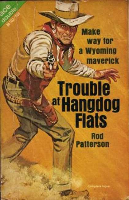 Ace Books - Hoodoo Guns / Trouble at Hangdog Flats - Ray Hogan