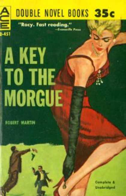 Ace Books - A Key To the Morgue / Odds Against Linda - Robert Martin