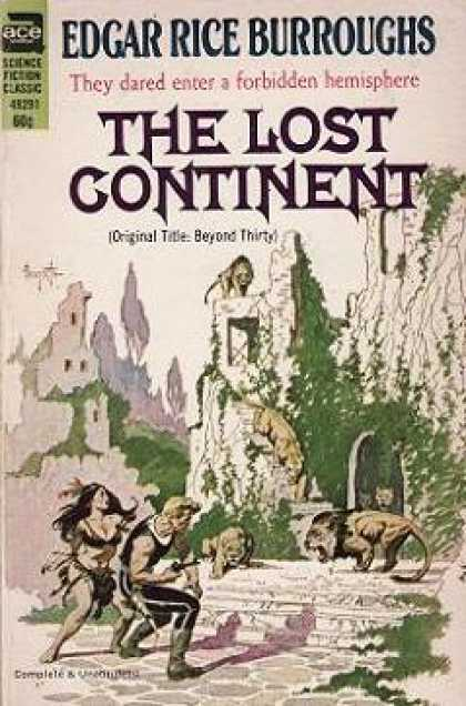 Ace Books - The Lost Continent - Edgar Rice Burroughs
