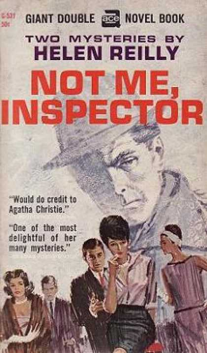 Ace Books - The Canvas Dagger and Not Me, Inspector - Helen Reilly