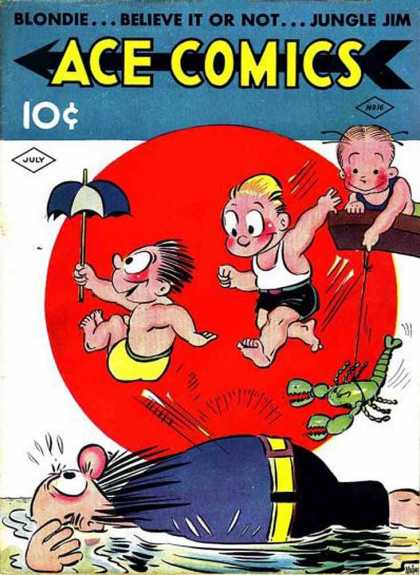 Ace Comics 16 - Jungle Jim - Ace Comics - Blondie - Believe It Or Not