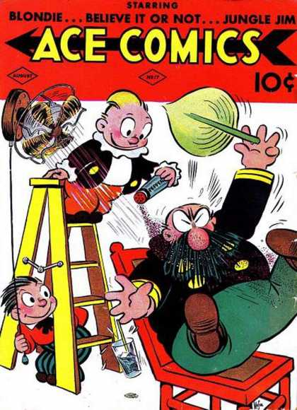 Ace Comics 17 - Fan - Ladder - Blondie - Jungle Jim - Pepper