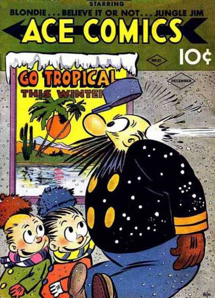 Ace Comics 21 - Tropical - Winter - Snowball - Hit - Throw